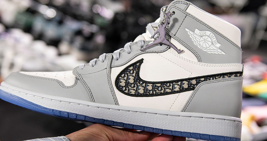 Here Is The First Look At The Dior Air Jordan 1 High Grey White