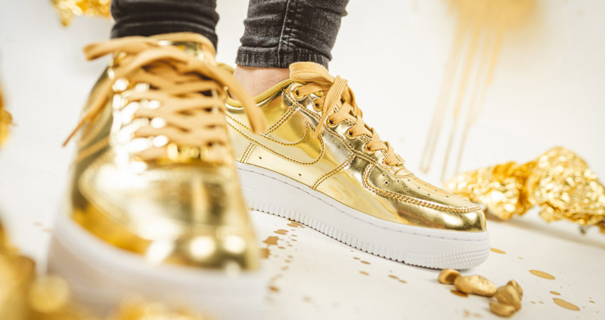 Nike Air Force 1 Adds Two Metallic Bolds For Womens!! 01