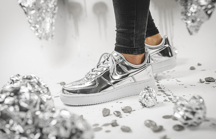 Nike Air Force 1 Adds Two Metallic Bolds For Womens!! ft