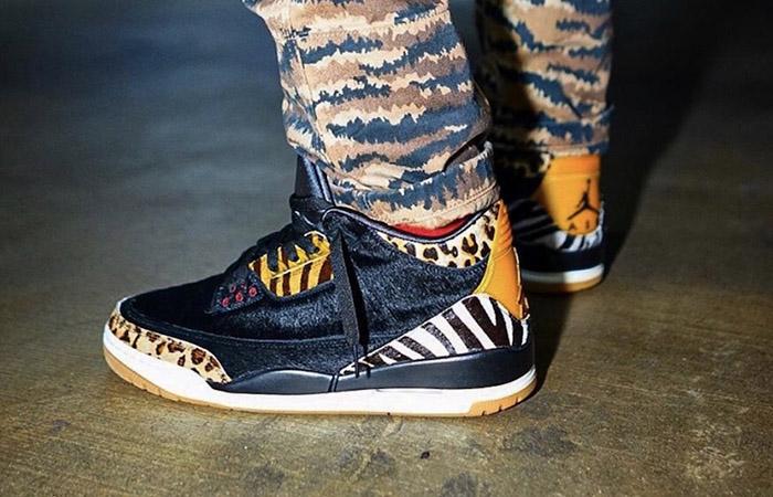 Nike Air Jordan 3 Animal Instinct Black Mocha CK4344-002 on foot 01