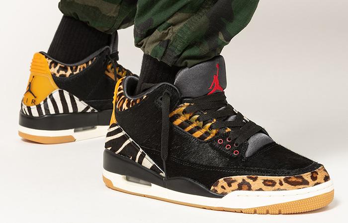 Nike Air Jordan 3 Animal Instinct Black Mocha CK4344-002 on foot 02