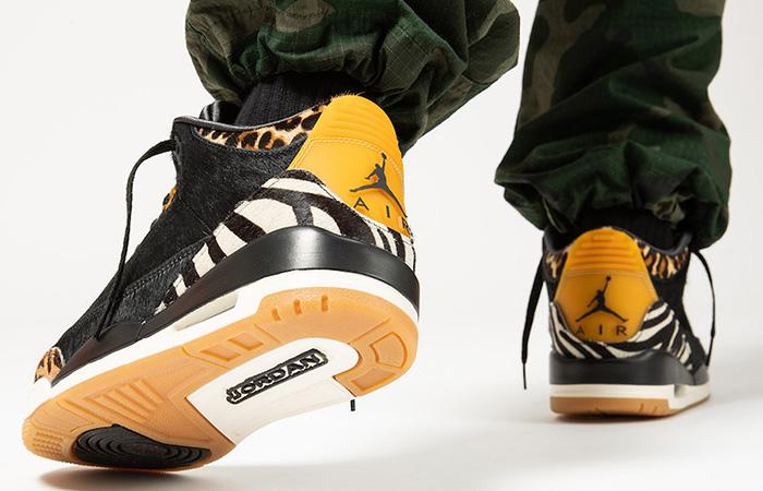 Nike Air Jordan 3 Animal Instinct Black Mocha CK4344-002 on foot 03