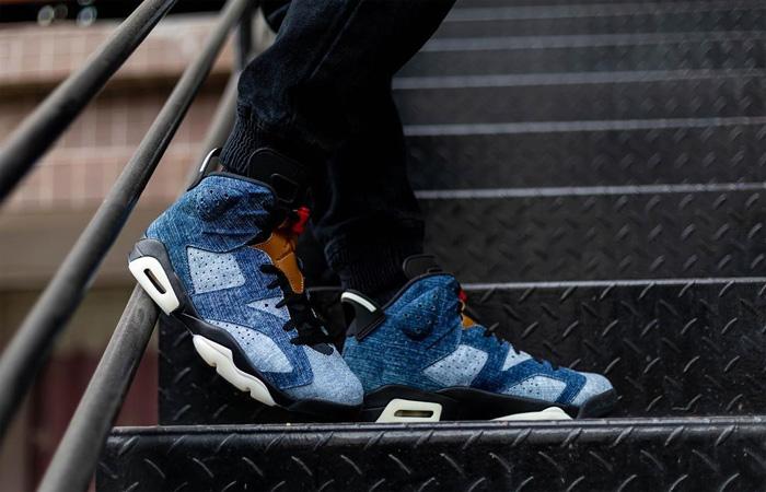 Nike Air Jordan 6 Washed Denim CT5350-401 on foot 01