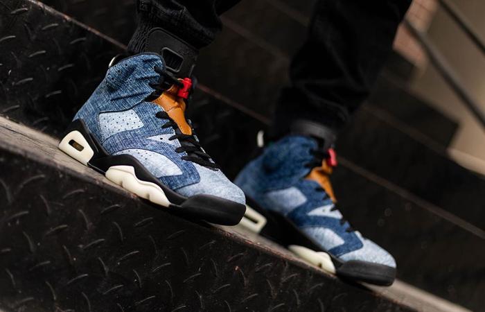 Nike Air Jordan 6 Washed Denim CT5350-401 on foot 02