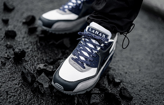 Nike Air Max 90 NRG Lahar Escape Blue CI5646-100 on foot 02