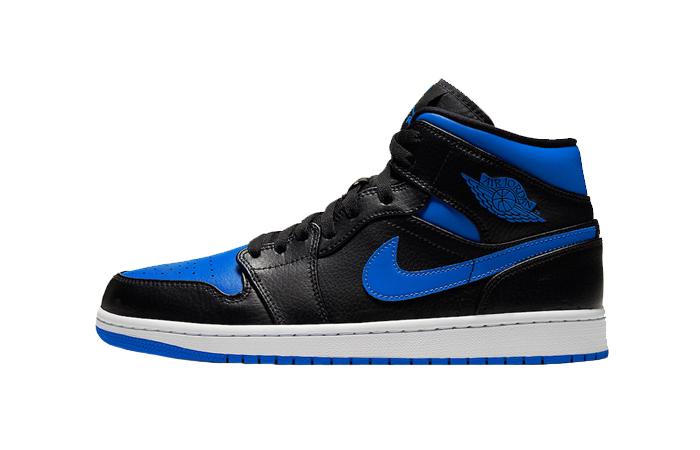 Nike Jordan 1 Mid Black Royal Blue