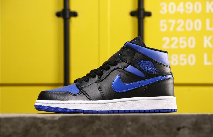 Nike Jordan 1 Mid Black Royal Blue 554724-068 02