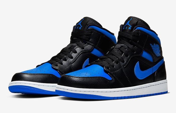 Nike Jordan 1 Mid Black Royal Blue 554724-068 05