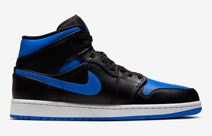 Nike Jordan 1 Mid Black Royal Blue 554724-068 06