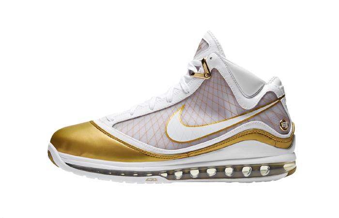 Nike LeBron 7 Gold White CU5646-100 01
