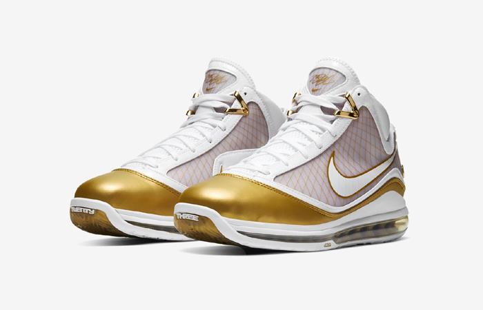 Nike LeBron 7 Gold White CU5646-100 02