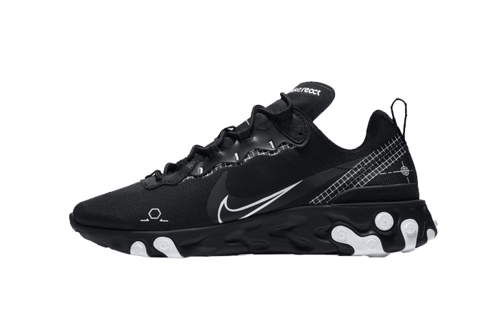 Nike React Element 55 Black CU3009-001 01