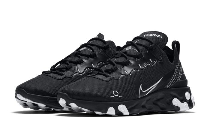 Nike React Element 55 Black CU3009-001 02