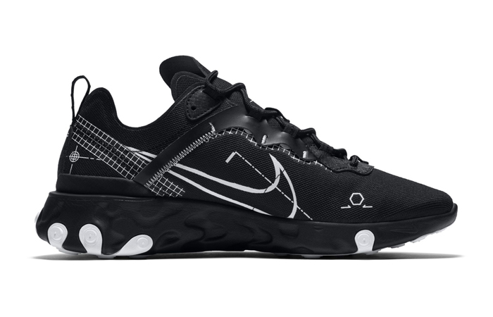 Nike React Element 55 Black CU3009-001 03