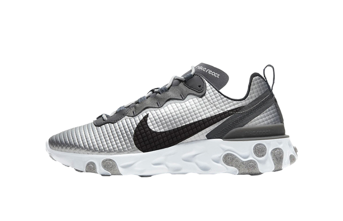 Nike React Element 55 Quilted Grids Grey CI3835-001 01
