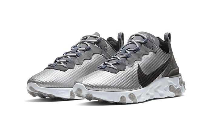 Nike React Element 55 Quilted Grids Grey CI3835-001 02