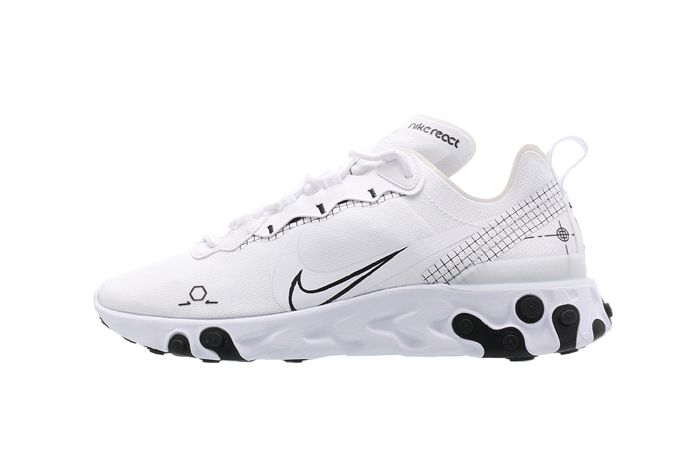 Nike React Element 55 White CU3009-100 01