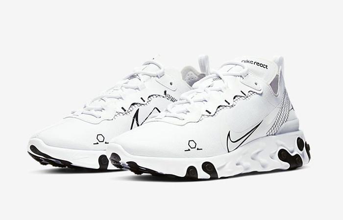 Nike React Element 55 White CU3009-100 02