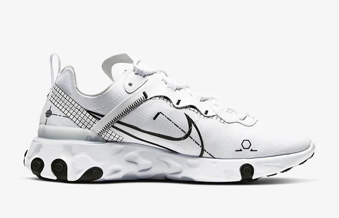 Nike React Element 55 White CU3009-100 03