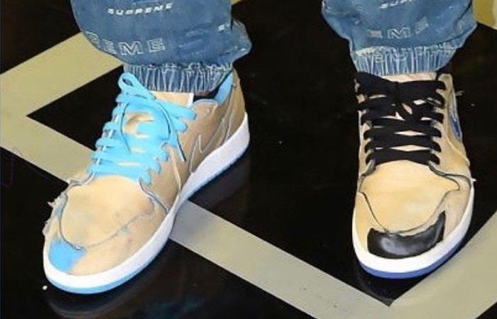 Nike SB Air Jordan Low Cream Sky CJ7891-200 on foot 01