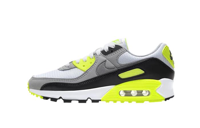 Nike Womens Air Max 90 Yellow Grey CD0490-101 01