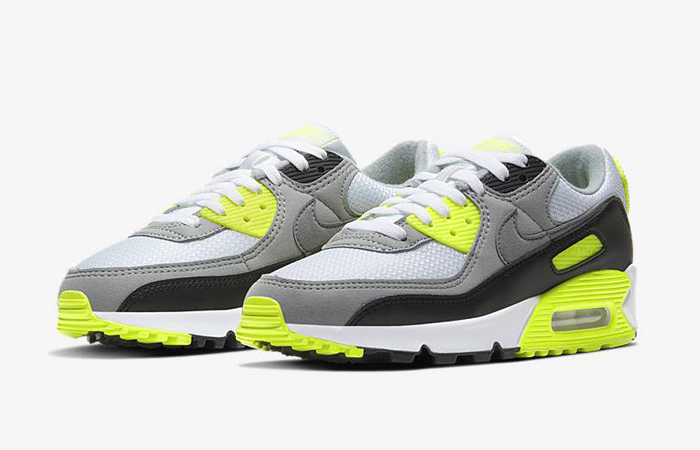 Nike Womens Air Max 90 Yellow Grey CD0490-101 02