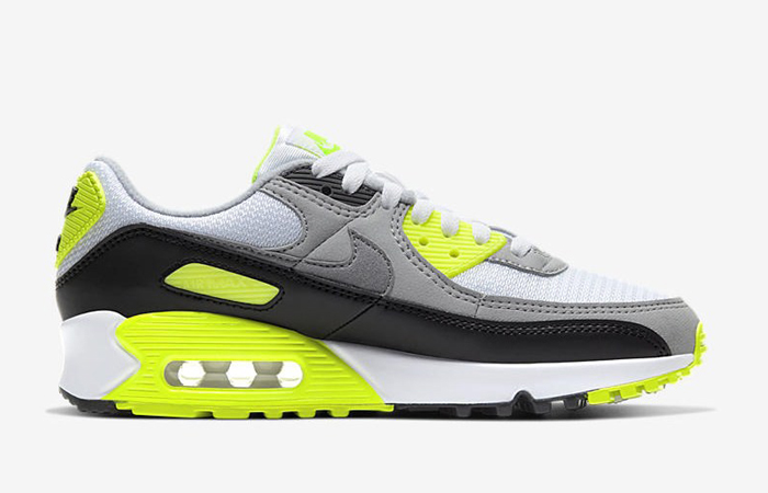 Nike Womens Air Max 90 Yellow Grey CD0490-101 03