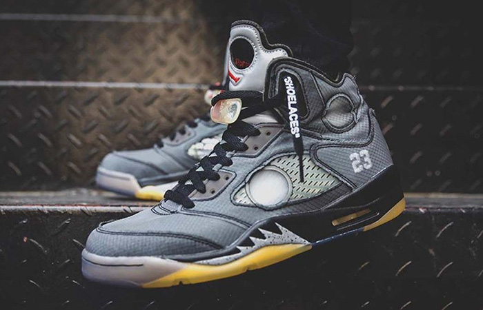 Off-White Air Jordan 5 Black Metallic is Confirmed Virgil Abloh ft