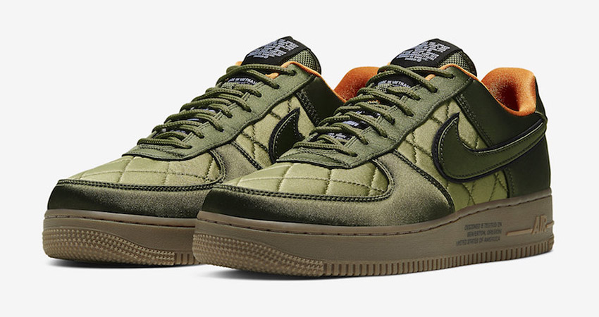 Official Images At The Nike Air Force 1 Low Quilted Olive 01