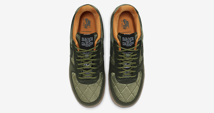 Official Images At The Nike Air Force 1 Low Quilted Olive 03