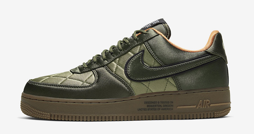 Official Images At The Nike Air Force 1 Low Quilted Olive