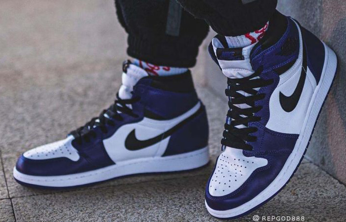 On Foot Look At The Nike Air Jordan 1 High Court Purple ft