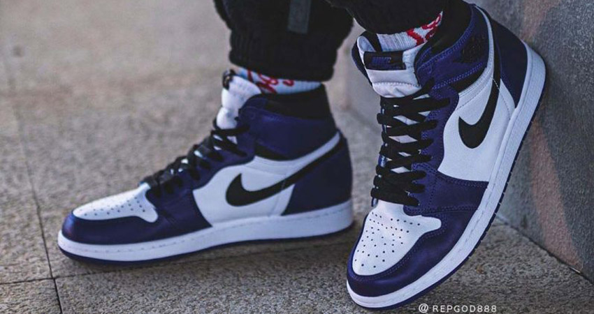On Foot Look At The Nike Air Jordan 1 High Court Purple Fastsole