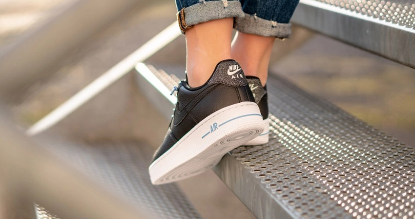 On Foot Look At The Nike Womens Air Force 1 07 LX Black 01