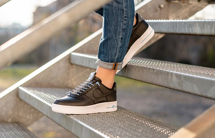 On Foot Look At The Nike Womens Air Force 1 07 LX Black ft