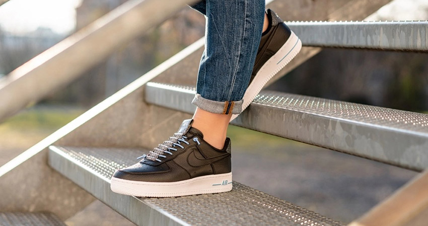 On Foot Look At The Nike Womens Air Force 1 07 Lx Black Fastsole