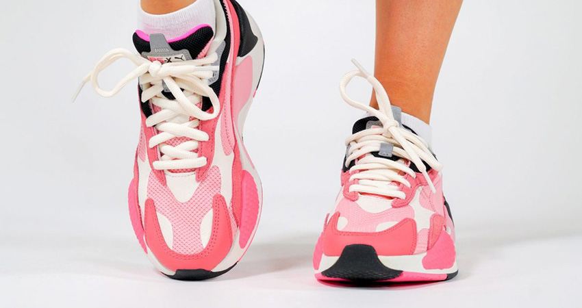 On Foot Look At The Pink PUMA RS-X 3 Puzzle 01