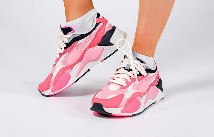 On Foot Look At The Pink PUMA RS-X 3 Puzzle ft