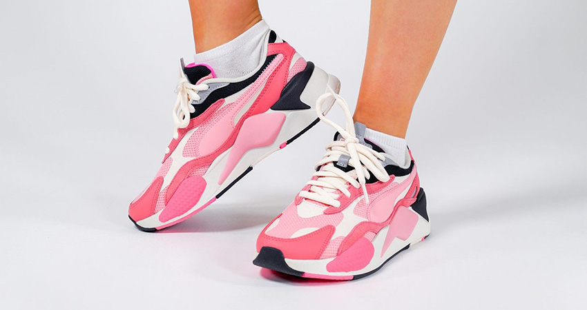 On Foot Look At The Pink PUMA RS-X 3 Puzzle