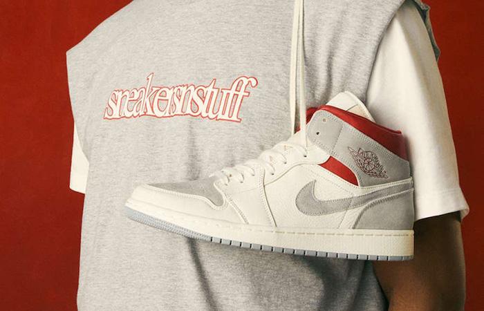 Sneakersnstuff Air Jordan 1 Mid Premium Grey White CT3443-100 02