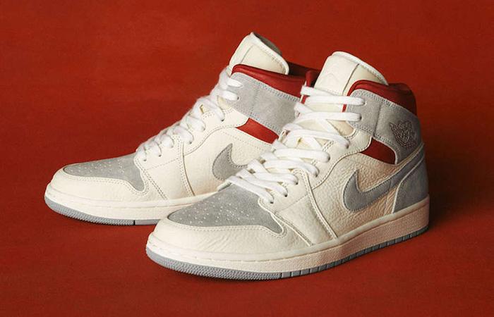 Sneakersnstuff Air Jordan 1 Mid Premium Grey White CT3443-100 03