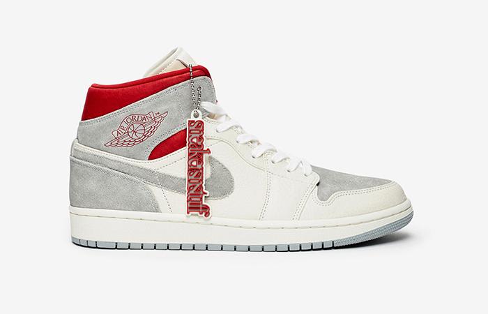 Sneakersnstuff Air Jordan 1 Mid Premium Grey White CT3443-100 05