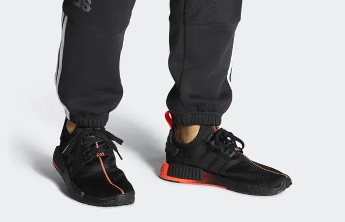 Star Wars adidas NMD R1 Black Red FW2282 on foot 01