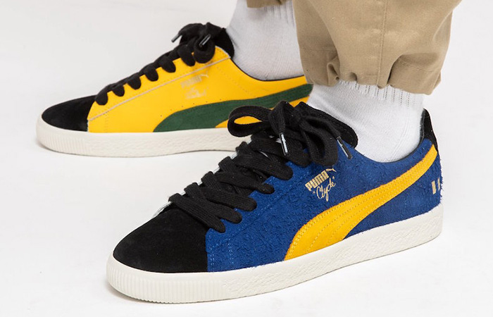 The Hundreds PUMA Clyde Decades 372944-01 on foot 01
