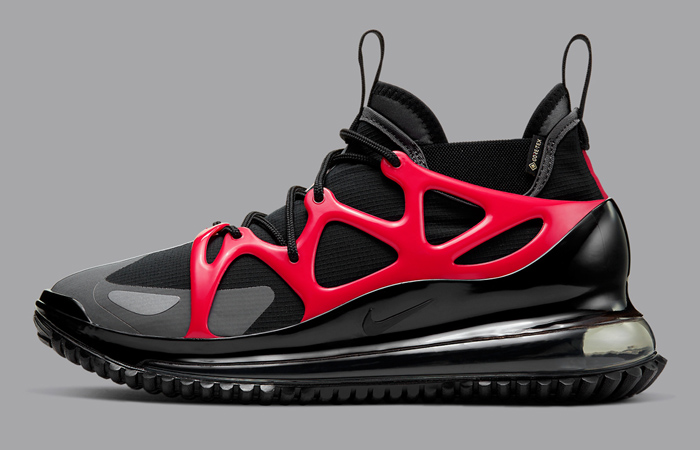 The Nike Air Max 720 Horizon Dressed Up In A Black University Red Colorways ft