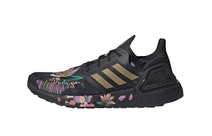 adidas Ultra Boost 20 DNA Floral Black FW4310 01