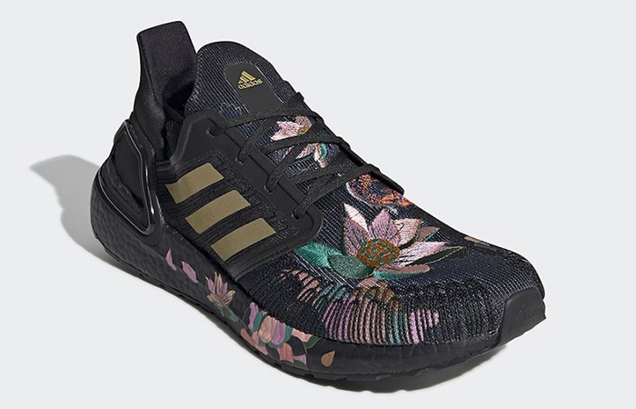 adidas Ultra Boost 20 DNA Floral Black FW4310 02
