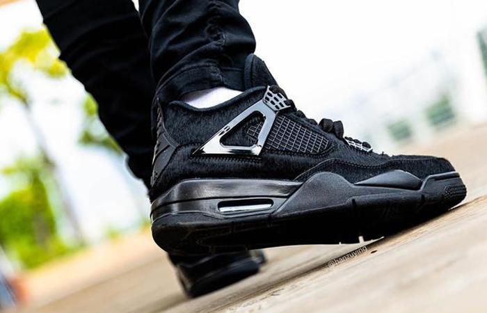 Air Jordan 4 Black Cat CU1110-010 on foot 03