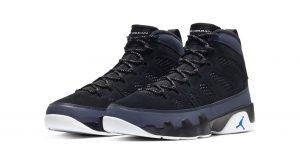 Air Jordan 9 Dressed Up With Black Velvet And Hyper Blue Colorways 01