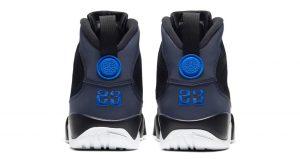 Air Jordan 9 Dressed Up With Black Velvet And Hyper Blue Colorways 03